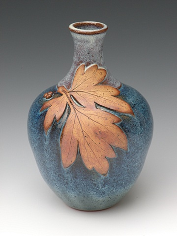 Narrow Neck Leaf Vase