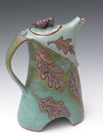 Bronze Green Stoneware Pitcher