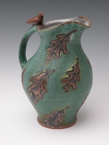 April Green Bird Pitcher