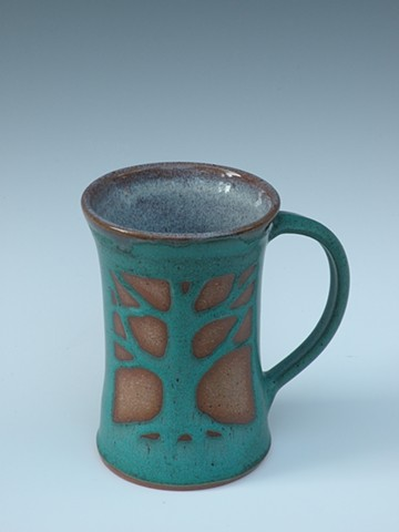 Tall Tree Mug, Bronze Green