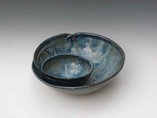 Chip & Dip Bowl, Floating Blues