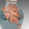 Bluegreen Leaf Vase