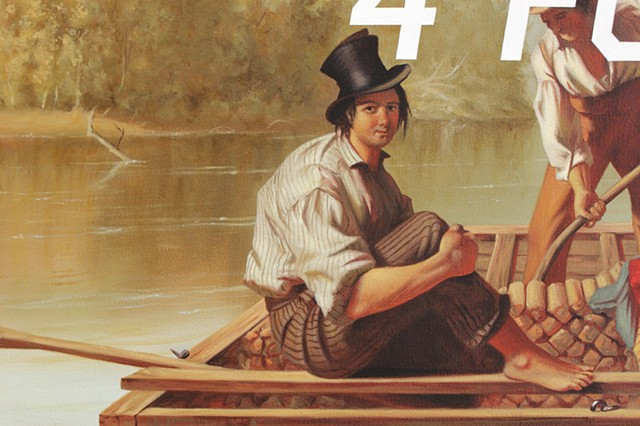 Boatmen On The Missouri: Will Twerk For Food, detail