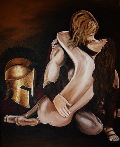 Spartans acrylic painting