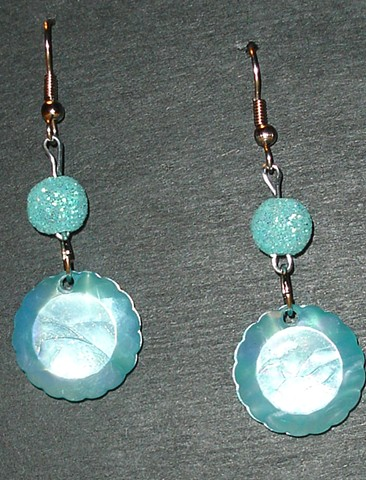 Turquoise color beaded earrings