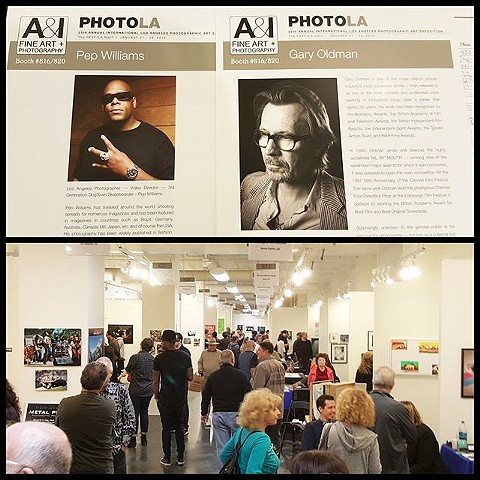 Pep Williams and Gary Oldman showcased at PhotoLA in Los Angeles.