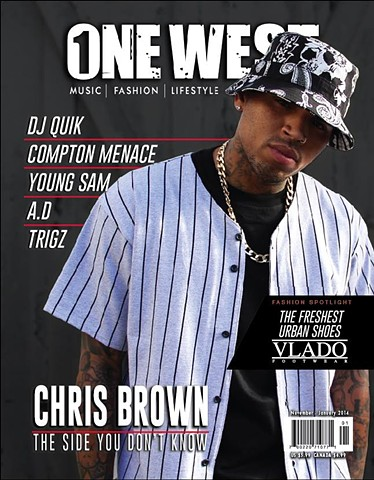 Chris Brown. Cover shot by Pep WIlliams