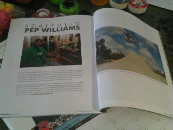 Pep Williams featured in Concrete Wave Magazine.