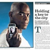 Pep Williams on a double page spread in LA Times.