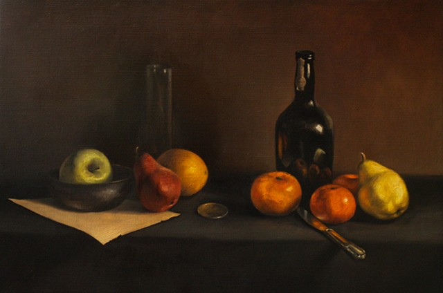 Still Life with Pears & Oranges