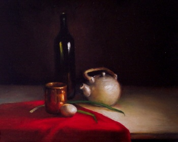 Still Life with Green Onions