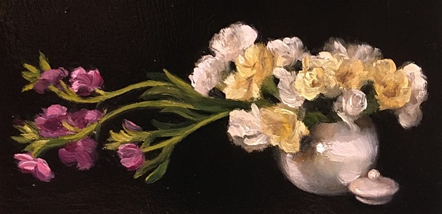 Tea Kettle with Flowers