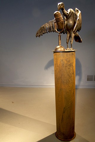 vulture, cast iron, sculpture, modeling, foundry