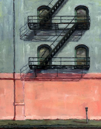 Old-town fire escape