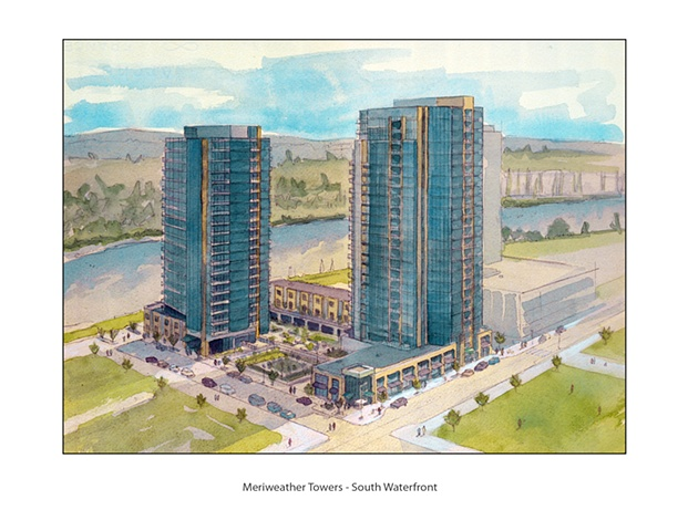 Meriweather Towers - Architectural Rendering
