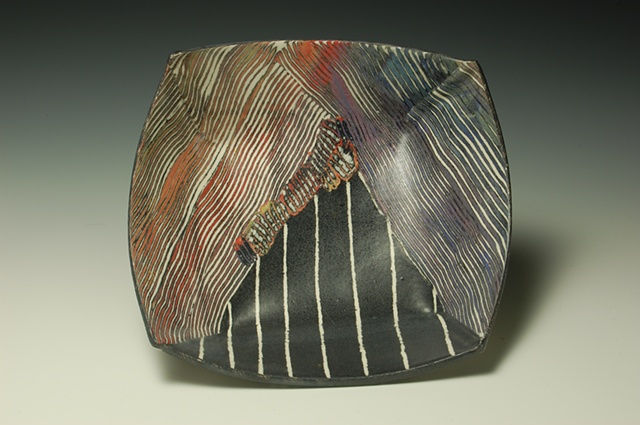 Bowl with Inlaid Fossil