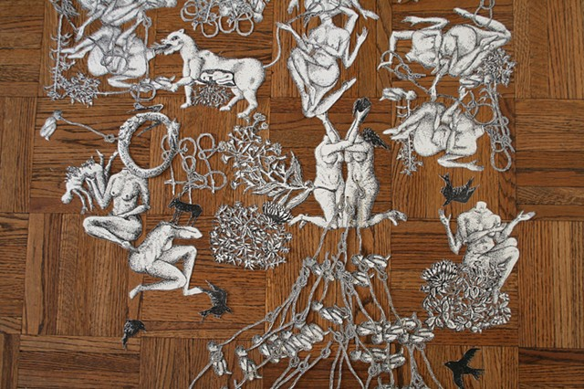 Preparatory drawing cut-outs (close up)
