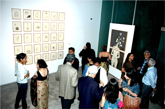 'My Body, the Seed' and 'Code of Conduct' Series (Gallery view, Bodhi Art, Mumbai, India)