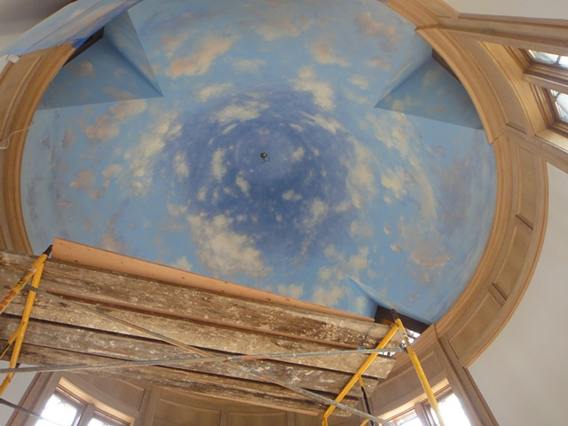 Domed Ceiling- Last Day of Painting
