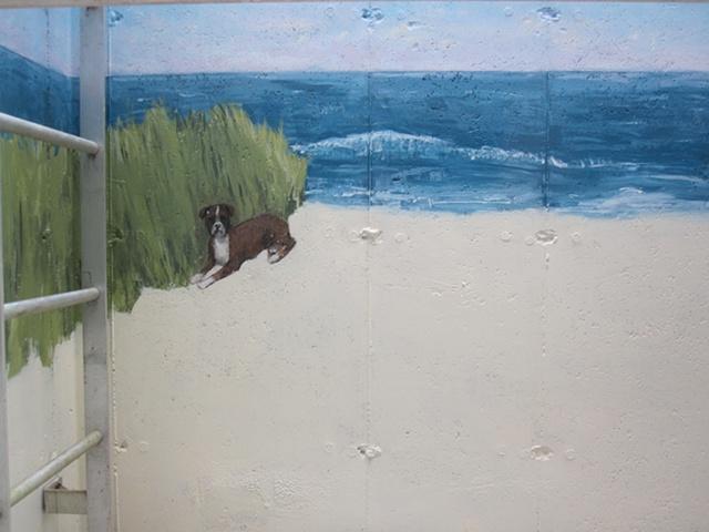 Left Side of the Mural- Dog Detail