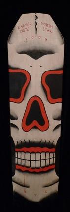 coffin skull skate deck