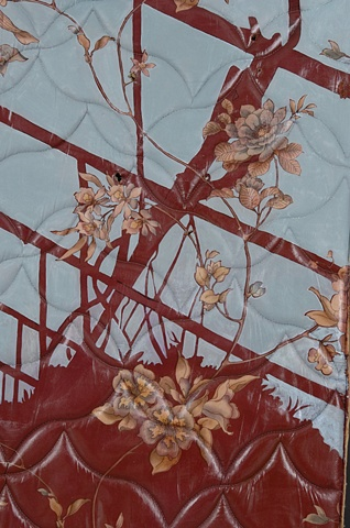 Blue on Red Hothouse, detail