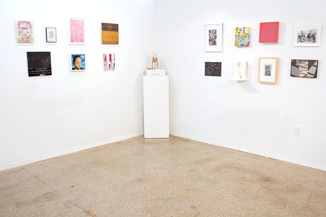 Small Works 2017 at Trestle Gallery, installation view (Easter Candy pictured to the right of center)
