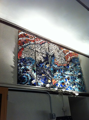 """The Great Wave"" mosaic James Otis School, East Boston, MA"