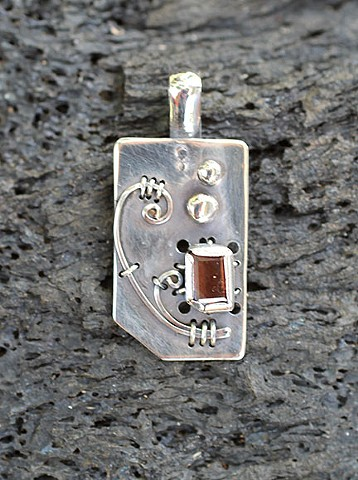 sterling silver, Oregon sunstone