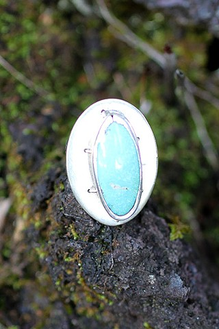 sterling silver, sleeping beauty turquoise