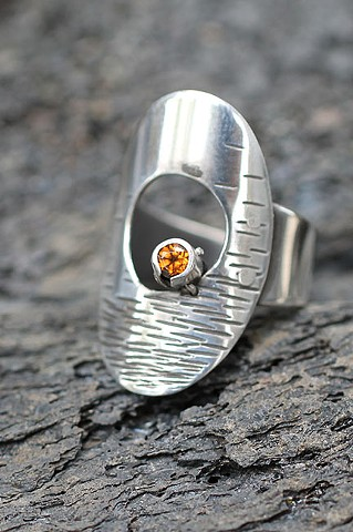 sterling silver, spessartite