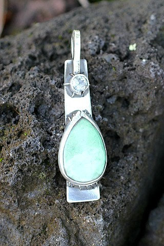 sterling silver, sleeping beauty turquoise, prasiolite