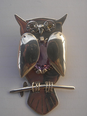 owl, #241, necklace