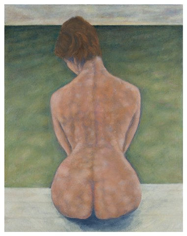 Seated Nude by the Water