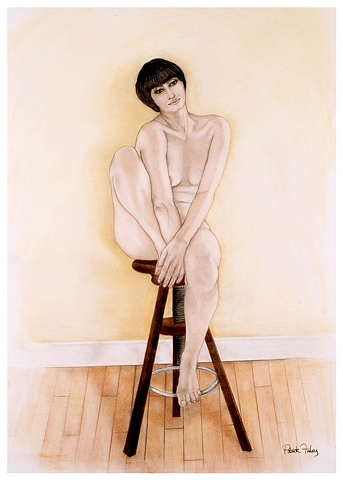 Figure on a Stool