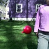composition with red ball