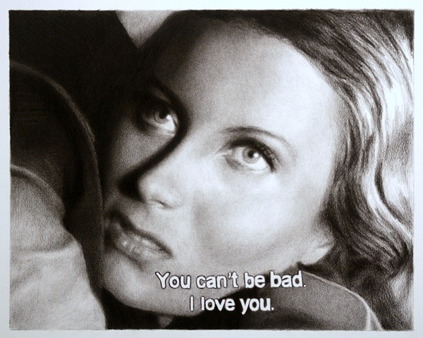 Subtitled Film Still: You Can't Be Bad, I Love You