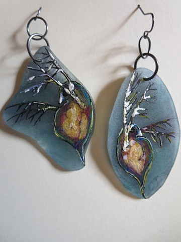 027 Water Daphnia earrings original