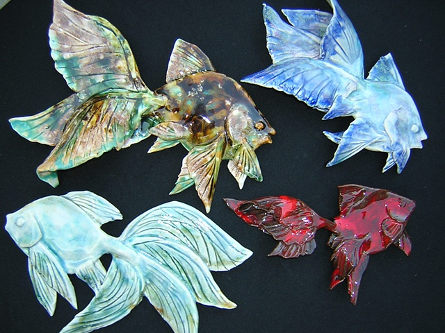 Wall hanging fish collection