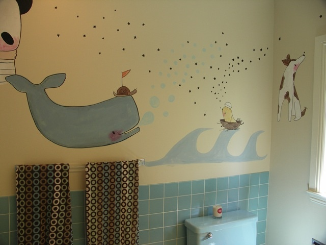 Bathroom Mural - Private Commission