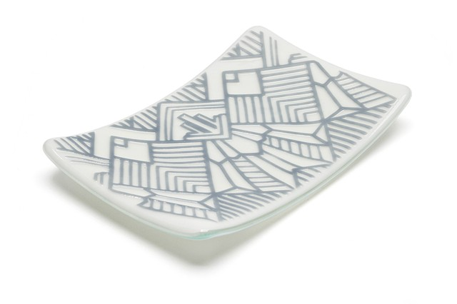 Jewelry Plate Geo (Dark Grey)