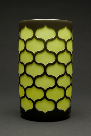 Chocolate and Olive Interlocking Cylinder