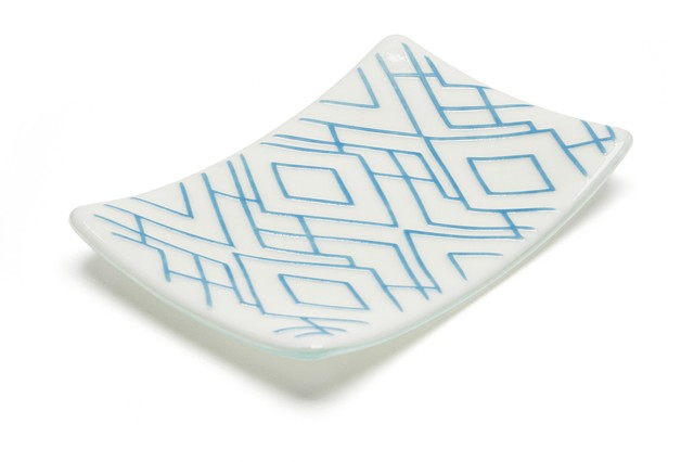 Jewelry Plate Geo (Dark Blue)