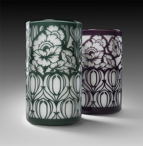Grey and Purple Althea Cylinders