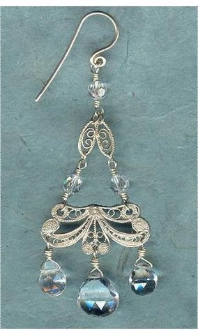 White Topaz and Filigree Chandelier