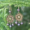 Brass Filigree with Purple FWP