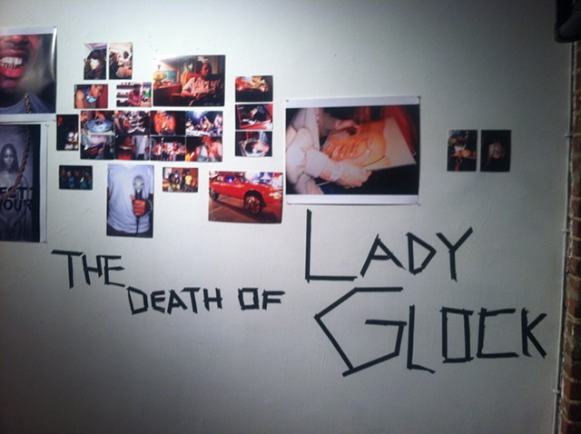 """The Death of Lady Glock"" Exhibition Installation Shots (2011)"