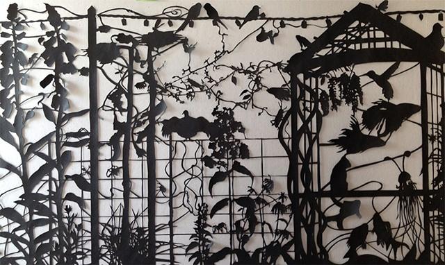 Cut paper silhouette
