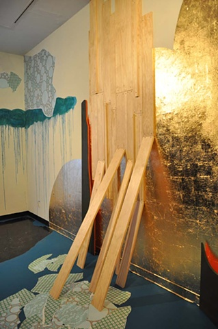 Michele Kishita, landscape, abstract, painting, Japanese, installation