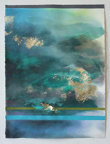 Michele Kishita, landscape, abstract, painting, Japanese